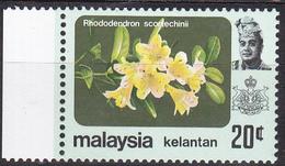 Maleisië ( Kelantan ) 1979, Postfris MNH, Flowers - Maleisië (1964-...)
