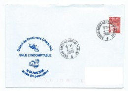 15320 - SOUS-MARIN -- SNLE L'INDOMPTABLE  - Départ De Brest Pour Cherbourg 4-4-2005 Pour Désarmement - OBL. Île Longue M