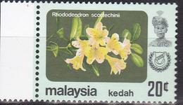 Maleisië ( Kedah ) 1979, Postfris MNH, Flowers - Malaysia (1964-...)