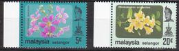 Maleisië ( Selangor ) 1979, Postfris MNH, Flowers - Maleisië (1964-...)