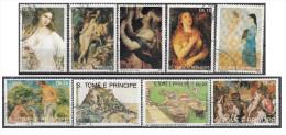 0966  S. Tomè E Principe 1990 - Dipinti Di Picasso Rubens Durer Van Gogh Nude Art Painting Full Set