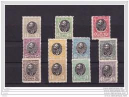 1905 - SERBIE - Србија - Série YT 82-92 Neufs ** - Roi Pierre 1er - Sans Charnières - Serbie