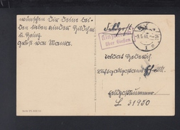 Dt. Reich AK 1940 Feldpost Kinzenbach über Giessen - Germania
