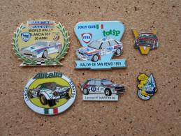 Lot De Pin's Rallyes Lancia Corse, 037, Stratos, Delta HF, Rare - Rallye