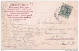 Vers 1904 - Enveloppe De Colmar, Alsace Occupée Vers Mulhouse Via Convoyeur Colmar Markolsheim  - Carte De Voeux - Alsace-Lorraine
