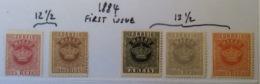 1884 Crown Type First Issue Mi 1 C, 4 A, 7 Cb, 8 C, 9 Aa XF ! (*) Unused No Gum  (Macao Macau - Macao