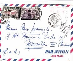 30.10.1962 LETTRE  ALGERIE  SURCHARGE E A. RECOMMANDE D'ALGER POUR MARSEILLE  / 7942 - Lettres & Documents