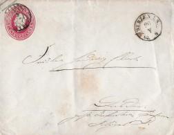 KÖNIGREICH SACHSEN → Ganzsache EIN NEUGROSCHEN Anno 1862