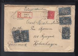 Dt. Reich R-Brief 1923 Berlin Nach Dänemark - Deutschland