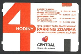 Slovakia, Bratislava, Parking Ticket For Central Mall - Tickets - Vouchers