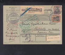 Dt. Reich Paketkarte 1906 Frankfurt Am Main  Nach Schweiz - Briefe U. Dokumente