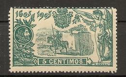 Edifil  257**  LUJO   El Quijote  1905   NL415 - 1889-1931 Royaume: Alphonse XIII