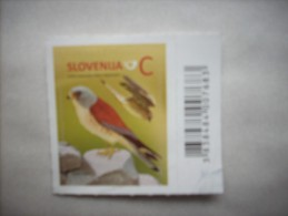 3-1154 Label Timbre Autocollant De Carnet Slovenie Rapace Faucon Crecerelle Cernícalo Vulgar Kestrel Turmfalke