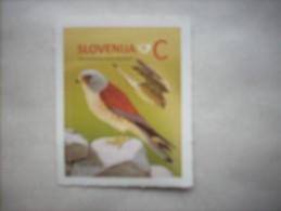 3-1155 Label Timbre Autocollant De Carnet Slovenie Rapace Faucon Crecerelle Cernícalo Vulgar Kestrel Turmfalke