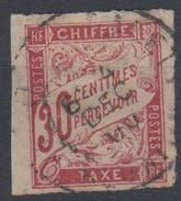#109# COLONIES GENERALES TAXE N° 22 Oblitéré Pointe Des Galets (Réunion)