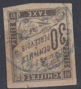 #109# COLONIES GENERALES TAXE N° 9 Oblitéré En Bleu Ste-Marie (Réunion)  RARE