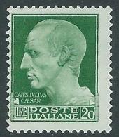 1929-42 REGNO IMPERIALE 20 LIRE MNH ** - CZ33-4 - 1900-44 Victor Emmanuel III