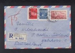 Yugoslavia Stationery Cover Uprated Overprints 1950 - 1945-1992 Sozialistische Föderative Republik Jugoslawien