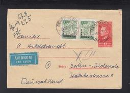Yugoslavia Stationery Cover Uprated Overprints 1950 (2) - 1945-1992 Socialist Federal Republic Of Yugoslavia