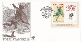 South Africa FDC 1995 Ilsapex Souvenir Sheet (LAR1-B)