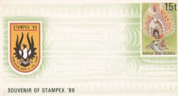 Papua New Guinea 15T Stampex 1986 Postal Stationary - Mint (LAR1-B) - Papouasie-Nouvelle-Guinée