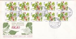 Palau FDC 1987 Definitives Booklet Flowers (LAR1-B)