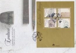 Portugal FDC 1994 Sculptures Souvenir Sheet (LAR1-B)