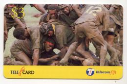 FIDJI Prepaid RUGBY 3$ Date 2001 - Fidji