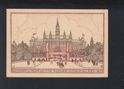 PK Kleingarten- Siedlungs- Und Wohnbau- Ausslellung Wien 1923 Sonderstempel - 1918-1945 1a Repubblica