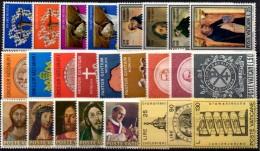 7 Set Dominikus 1971 Vatikan 550/2,553/5,561/3,564/8,577/0,586/9+596/8 ** 3€ Papst Gemälde Christus Church Waps Vaticano - Vatican