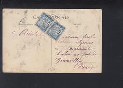 Frankreich France AK Arras 1908 Nachporto - Poststempel (Briefe)