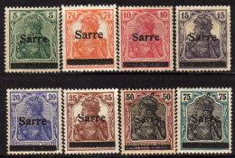 SAARLAND 1920 - MiNr: 1-17  8x   * / MH - 1920-35 Saargebiet – Abstimmungsgebiet