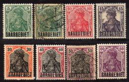 SAARLAND 1920 - MiNr: 32 - 43   8x  Used + * / MH - 1920-35 Saargebiet – Abstimmungsgebiet