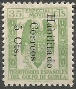 GUINEA ESPAÑOL EDIFIL NUM. 259B NUEVO SIN GOMA - Guinea Española