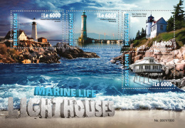 SIERRA LEONE 2016 - Lighthouses. Marine Life. Official Issue.
