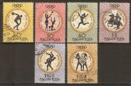 HONGRIE   -  1960 -  Y&T N° 1382 à 1387 Oblitérés. JO De Rome