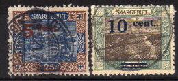 SAARLAND 1921 - MiNr: 71 + 72 Used - Gebraucht