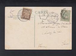Grossbritannien AK London 1905 Nach Frankreich France Nachporto - Poststempel (Briefe)