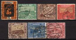 SAARLAND 1922 - MiNr: 84-97  7x  Used - 1920-35 Saargebiet – Abstimmungsgebiet
