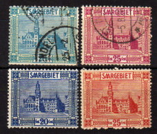 SAARLAND 1922 - MiNr: 88 + 89 - 99 + 100   Used / * MH - 1920-35 Saargebiet – Abstimmungsgebiet