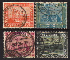 SAARLAND 1923 - MiNr: 98 - 101 Komplett   Used - Gebraucht
