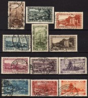 SAARLAND 1926 - MiNr:108 - 121 + 143   12 X   Used - 1920-35 Saargebiet – Abstimmungsgebiet
