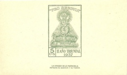 SEGOVIA HB MNH ** 1937 II AÑO TRIUNFAL VIRGEN DE FUENCISLA - Nationalistische Ausgaben