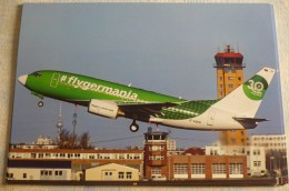 AIRLINES ISSUE / CARTE COMPAGNIE        GERMANIA   B 737       ANNIVERSAIRE 30 ANS - 1946-....: Moderne