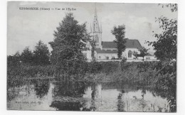 SISSONNE EN 1932 - VUE DE L' EGLISE - CPA VOYAGEE - Sissonne