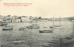 GRECE  METELIN  La Jetée Du Port   2 Scans - Grèce