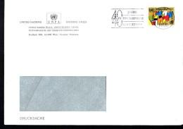 ONU  Lettre Drapeaux 40 Ans Cour De Justice Balance - ONU