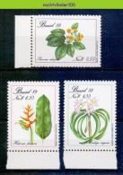 Mom155 FLORA BESCHERMDE BLOEMEN PROTECTED FLOWERS SCHUTZ BLUMEN FLEURS FLORES  BRASIL 1989 PF/MNH