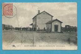 CPA 1071 - Chemin De Fer Gare SAINT-SAULGE 58 - France