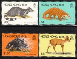 Hong Kong 1982 Scott 384-7 Animals MNH** - Hong Kong (...-1997)